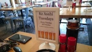 Kome Sushi Kitchen 火曜のハッピーアワーはお得!