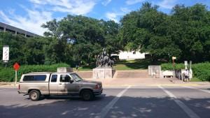UT Austinキャンパス内