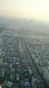 六本木ヒルズの展望台からみた東京 (その2)